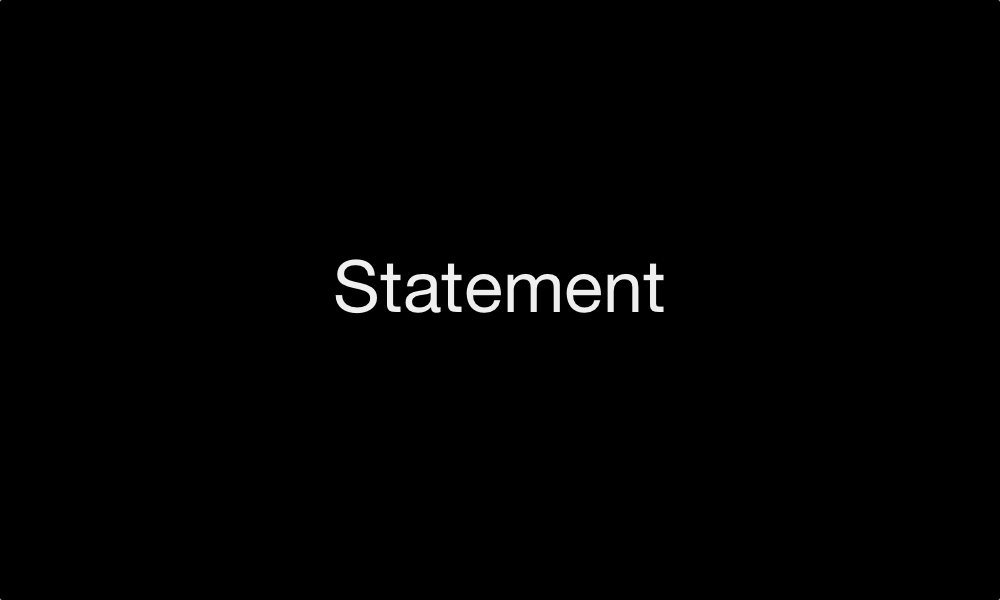 Statement 2nd September 2018
